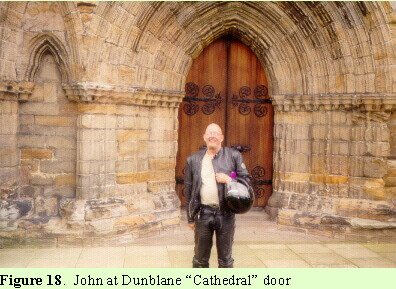 "John at Dunblane ""Cathedral"" door"