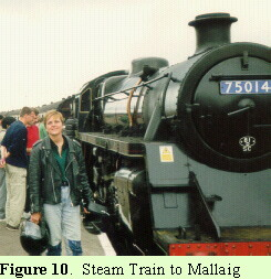 """Steam Train to Maillaig,"" music for bagpipes composed by Mary Ann Mackinnon while riding the train"